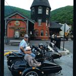 John & Edna at the Jim Thorpe Train station during their tour.