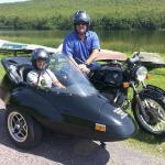 Kevin and his son Phil from Long Island take a sidecar tour during a father and son adventure packed weekend.