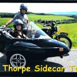Lori and Ed from York, Pa. celebrate Ed's birthday with a sidecar ride.