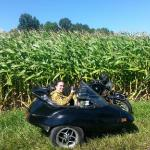 Dana has an amazing time on her sidecar ride!
