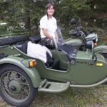 Introducing our new tour guide Gali and her Ural Sidecar rig. Russia's version of a BMW.