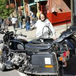 Barb out with the sidecar at Jim Thorpe Fall Foliage weekend festivities.