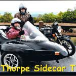 Celebrating Deborah's 60th birthday on a sidecar tour with Melissa.