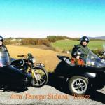 Larry, Sheila, Tom and Sharon taking in the views from their sidecar adventure.