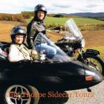 Roger and Deborah celebrate their anniversary in a sidecar.
