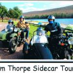 Diane & Scott with friends Kathy & Merv take a beautiful November sidecar tour while visiting scenic Jim Thorpe.