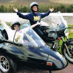 Diane with her grandson Ryan celebrating her 70th birthday in sidecar style!
