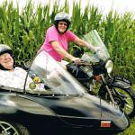 Linda and Jr. from Palmerton, PA enjoy a summer sidecar tour.