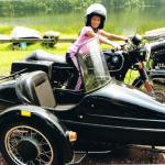 Twins Bella and Alex loved their sidecar adventure during summer vacation.