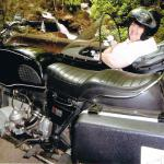 Sheri from Ontario, Canada explores her first trip to Jim Thrpe on a sidecar tour.