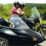 Tom and Marylou venture out for an afternoon of sidecar fun.