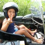 Leila 5 years young enjoying her first sidecar experience.