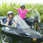 Cathy & Jake from Voorhees, NJ taking in the sights from a sidecar.
