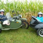 Karen surprised her husband Dennis with a sidecar tour for his birthday.