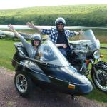 Ryan and Kim from my old stomping ground enjoying a sidecar tour.