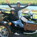 Tony and Patricia from Phila., enjoy a sidecar tour.