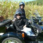 Tony & Patricia from Phila enjoy an afternoon sidecar tour.