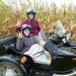 Sharon & Steven from Naugatuck,Conn celebrate their anniversary with Jim Thorpe Sidecar Tourz.