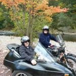 "Terri & Larry from Warminster, Pa. enjoyed ""leaf peeping"" from a sidecar. It just doesn't get any better than this!"
