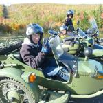 Laura, Ceara & Dylan from Duncansville, Pa. taking in the colors during an afternoon sidecar adventure.