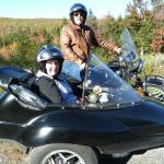 Linda & Fred from Martinsburg, West Virginia enjoying a perfect October afternoon from the view of a sidecar.