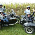 Patti and Frank came all the way from Ozark, Alabama to enjoy a sidecar ride with Anita and George from Lebanon, Pa.