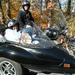 Joan from Ocean View, Delaware thoroughly enjoyed her sidecar tour with her son Jeff from Newark, Delaware. Her bright smile never left her face!