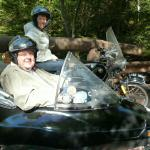 Carol and Ches take in the sights during their 4 hour sidecar tour.