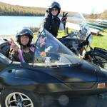 Momma Norma from Riegelsville, Pa. enjoyed a sidecar adventure with her daughter Abby from Pottstown, Pa.What a beautiful way to bond. ♡