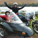 Mica & Eric from Hammonton, NJ. celebrated their 1st wedding anniversary with a sidecar excursion.