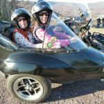 Casey from Emmaus, Pa. with her Mom Cheryl from Macungie, Pa., enjoying a beautiful Indian Summer November afternoon out and about in a Sidecar. It just doesn't get any better than this.