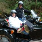 James and Michelle from Sicklerville NJ enjoyed exploring the backwoods in a sidecar.
