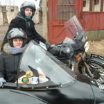 Tom and Jessie from Abington, Pa. enjoying an early springtime sidecar tour.
