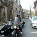 Susan and Richard from Warminster, Pa. taking in the history on Race St. in Jim Thorpe.