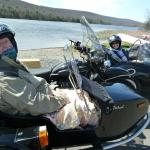 Debby and Ken from Lancaster, Pa. celebrated their Anniversary while enjoying a scenic sidecar tour of Jim Thorpe.