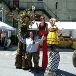 Barb celebrating Earth Day with her friends from the Eclectic Circus.