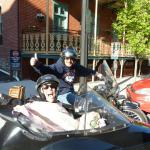 Ilicia and Phil from Long Island, N.Y., celebrate Phil's birthday with a sidecar adventure!