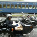 Walter from Thorofare, NJ and Catherine from Lansdowne, Pa. made time for a sidecar tour during their Murder Mystery weekend while staying at the The Harry Packer Mansion in Jim Thorpe.