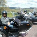Todd and Roxy from Maryland enjoy a peaceful sidecar tour while vacationing in the Poconos.