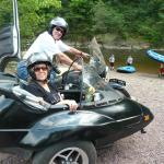 Carolyn and Gary from South Plainfield, NJ welcome summer 2016 with an afternoon sidecar tour of Historic Jim Thorpe.