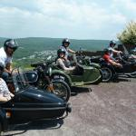"Colleen, Mark, Tyler, Rebecca, Ben, Kayte, Becca, & Sita all got to check ""Sidecar Adventure"" from their bucket list all together as a family. They were turning heads while traveling with four sidecar rigs. A fun-tastic time was had by all!"