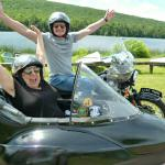Martha and Bob from Markboro, NJ celebrated their 4th of July in a sidecar.