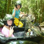Meghan from Boca Raton, Florida with her Aunt Lorna from Lansdake, Pa. Coolest Aunt ever to take her neice on a backwoods sidecar excursion!