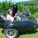 Elizabeth and Frank from New Windsor, NY celebrated their 30th Anniversary in style, from dual sidecar rigs!