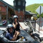 Terry and Santos from Phillipsburg, NJ enjoyed a beautiful summertime afternoon while touring historic Jim Thorpe from a sidecar.