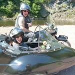 Carl and Margie from East Brunswick, NJ. got to see Jim Thorpe's beauty, from the seat of a sidecar.