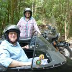 Nancy and Sherry from Manitowoc, Wisconsin were thrilled with their backwoods wilderness sidecar adventure. It just doesn't get any better than this!
