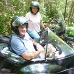 Earl and Nell traveled all the way from Doswell, Virginia to experience the backwoods of Jim Thorpe from a sidecar. They were not disappointed!