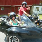 Anthony truely surprised his wife Kim with a birthday sidecar tour to the winery.